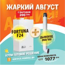 Газовый котел Ferroli Fortuna F24 + коаксиальный дымоход 60/100