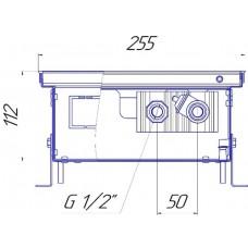Внутрипольный конвектор Новатерм НТ-В-11/25/XXX (таблица цен внутри)