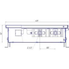 Внутрипольный конвектор Новатерм НТ-В-11/40/XXX (таблица цен внутри)