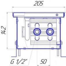 Внутрипольный конвектор Новатерм НТ-В-14/20/XXX (таблица цен внутри)