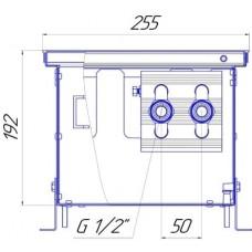 Внутрипольный конвектор Новатерм НТ-В-19/25/XXX (таблица цен внутри)