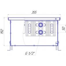 Внутрипольный конвектор Новатерм НТ-В-19/35/XXX (таблица цен внутри)