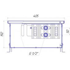 Внутрипольный конвектор Новатерм НТ-В-19/40/XXX (таблица цен внутри)