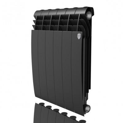 Радиатор отопления Royal Thermo Biliner Alum 500 Noir Sable (цена указана за 1 секцию)
