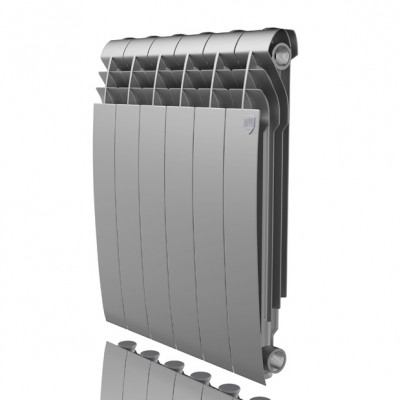 Радиатор отопления Royal Thermo Biliner Alum 500 Silver Satin (цена указана за 1 секцию)