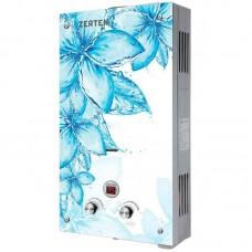 Zerten Glass D 20 кВт (панель с голубыми цветами на белом фоне)